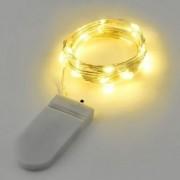 Led fényfüzér , beltéri , 20 db LED , meleg fehér , elemes