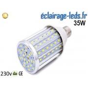 Ampoule LED E27 maïs 35W Blanc chaud 230v ref e27-03