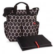 Skip Hop Torba do wózka Duo Signature Onyx - pojemna torba dla mamy na akcesoria niemowlęce,