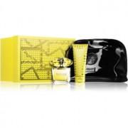 Versace Yellow Diamond lote de regalo X. eau de toilette 90 ml + leche corporal 100 ml + bolsita