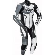 Ixon Falcon One Piece Leather Suit Black Grey White XL