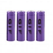4pcs 3.7V 14500 2300mAh Li-ion rechargeable Pour lampe torche