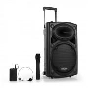 "Ibiza Port12VHF-BT Equipo PA 30cm (12"") USB SD AUX MP3 (BD-Port12VHF-BT)"