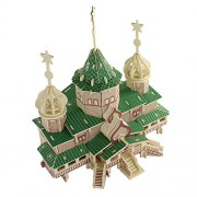 TATEELY New arrive Chalet DIY Educational 3D Wood Houses Puzzle Kids Wooden Toy House Puzzle Model House Russian Christmas Grand