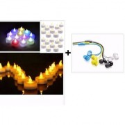 Diwali Exclusive Set of 3 Coloured Earphone + Free Diya ( To light your Life )