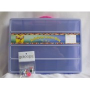 Diversified Deals Perfect Rainbow Loom Organizer Box with Name Tag-Fits 2 Looms, Hooks Thousands of Rubber Bands and Accessories (Grape-Purple) Bonus: 3 Goloop Charms