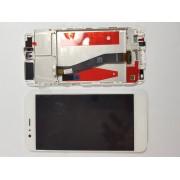 Ecran display Huawei P10 cu rama middle Alb