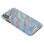 Blauw marmer design hardcase hoesje voor de iPhone Xs / X