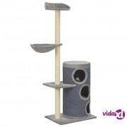 vidaXL Penjalica za mačke sa stupovima za grebanje siva 148 cm