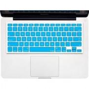 Kuzy - AQUA BLUE Keyboard Cover Silicone Skin for MacBook Pro 13 15 17 (with or w/out Retina Display) iMac and MacBook Air 13 - Aqua Blue