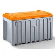 CEMO Universalbox aus Polyethylen - Inhalt 400 l, Traglast 250 kg - grau / orange