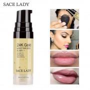SACE LADY 24K Gold Elixir Oil for Face Makeup Primer 6ml Professional Moisturizing Make Up Base Foundation Primer Pores Cosmetic