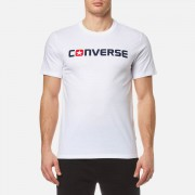 Converse Men's Core Wordmark T-Shirt - White - XXL - White