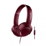 Слушалки Philips SHL3075RD, микрофон, честотен диапазон 9 – 23 000 Hz, червени