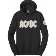 AC/DC Unisex Pullover Hoodie Logo & Angus (Applique Motifs) S