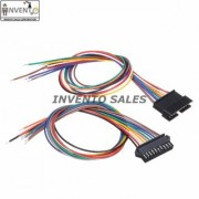 Invento 16pcs - 8 sets 10 pin Male Female 10 wire JST Connector Cable Lock Type for LED Lights DIY Projects