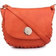 TR Fashion Women Orange PU Sling Bag