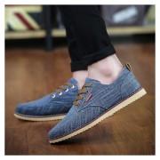Zapatillas Zapatos De Lona Ocasionales De Los Hombres Clásicos E-Thinker-Azul