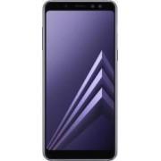 Telefon mobil Samsung Galaxy A8 (2018) A530 32GB Dual SIM 4G Orchid Gray Bonus Selfie Stick Tellur Z07-5