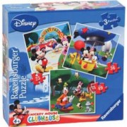 PUZZLE CLUBUL MICKEY MOUSE 3 BUC IN CUTIE 253649 PIESE Ravensburger