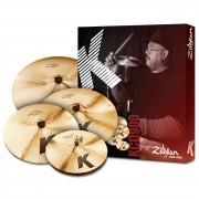 "Zildjian K' Custom Dark Set KCD900, 14""HH, 16"" Cr, 20""R + 18Cr"