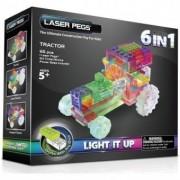 Kit Constructie cu Lumini Laser 6 in 1 - Tractor