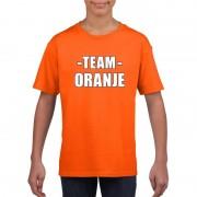 Bellatio Decorations Sportdag team oranje shirt kinderen