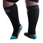 XpandaSport Sportsok met mesh panel - zwart - turquoise 41 - 43 - XpandaSport