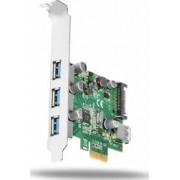 Adaptor Axagon 3+1x USB3.0 UASP VIA + LP