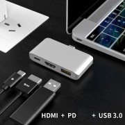 29014 PD+USB 3.0+HDMI 3-in-1 Type-C Port Video HUB