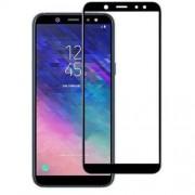 Geam Folie Sticla Protectie Display Samsung Galaxy A6 Plus 2018 Acoperire Completa Negru 6D