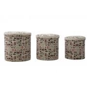 Set 3 cutii depozitare (cm) 44X44 - 38X38 - 34X34