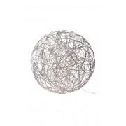 Dekoration med ljusslinga Alu.wire TRASSEL 50cm Silver