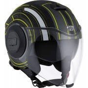 AGV City Fluid Chicago Casco Jet Negro Mate/Fluorescente XS (53/54)