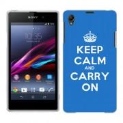 Husa SONY Xperia Z1 Silicon Gel Tpu Model Keep Calm Carry On