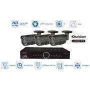 Špičkový kamerový set - 3x bullet kamera 1080P + 40m IR a DVR
