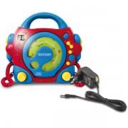 CD player portabil Bontempi cu 2 microfoane si adaptor inclus