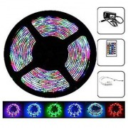 Remote Control RGB LED Strip Light Colour Changing for Diwali and Christmas Lighting (Multicolour)