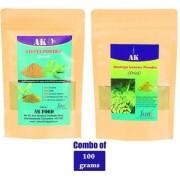AK FOOD -Moringa powder and Sativa Powder -(100g+100g)
