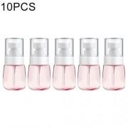 10 PCS Portable Refillable Plastic Fine Mist Perfume Spray Bottle Transparent Empty Spray Sprayer Bottle 30ml(Pink)