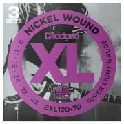 D'Addario EXL120-3D Nickel Wound .009-042 Saiten E-Gitarre