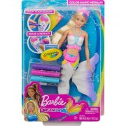 Papusa Barbie sirena colorabila Crayola Dreamtopia
