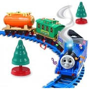 Tomis DawnRays The Big Family Battery Operated Deluxe Classical Train Track Toy Set with Sound Intelligent, Remote Control and Beautiful Light