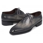 Paul Parkman Hand Painted Goodyear Welted Wholecut Oxford Shoes Grey Black 044GRY