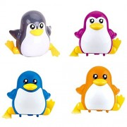 Emob Cute Penguin Wind-up Wind-up Toys with Winding Chain and Moving Wheels Feature for Toddlers (Penguin) (Muticolor)