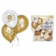 Palloncini 50esimo compleanno 15 pz