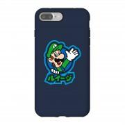 Nintendo Funda móvil Nintendo Super Mario Luigi Kanji para iPhone y Android - iPhone 7 Plus - Carcasa doble capa - Brillante