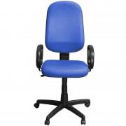 Cadeira de Escritório Presidente Giratória Azul com Braços - Pethiflex