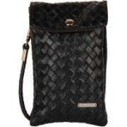 Lino Perros Women Casual Black PU Sling Bag