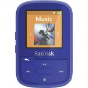 MP3 player sandisk Sport Plus 16GB clip, albastru (SDMX28-016G-G46B)